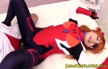 Cute redhead Chika Arimura takes a creampie