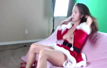 Santa's wife masturbates on webcam